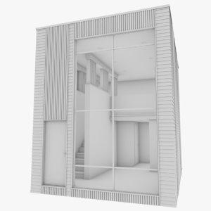 micro home interior 3D model