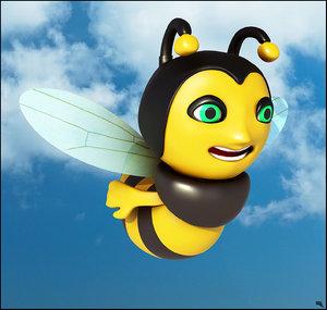 3D model bee toon cartoon