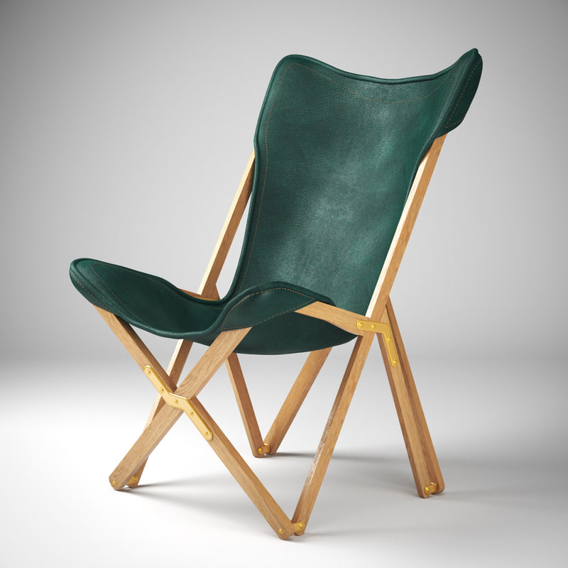 chair emy leather 3D model