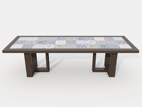 3D tidelli urban dining table