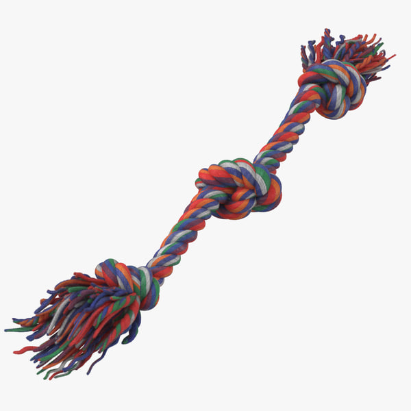 dog chew toy rope 3D model