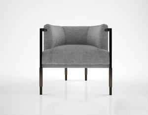 kelly wearstler larchmont chair 3D model