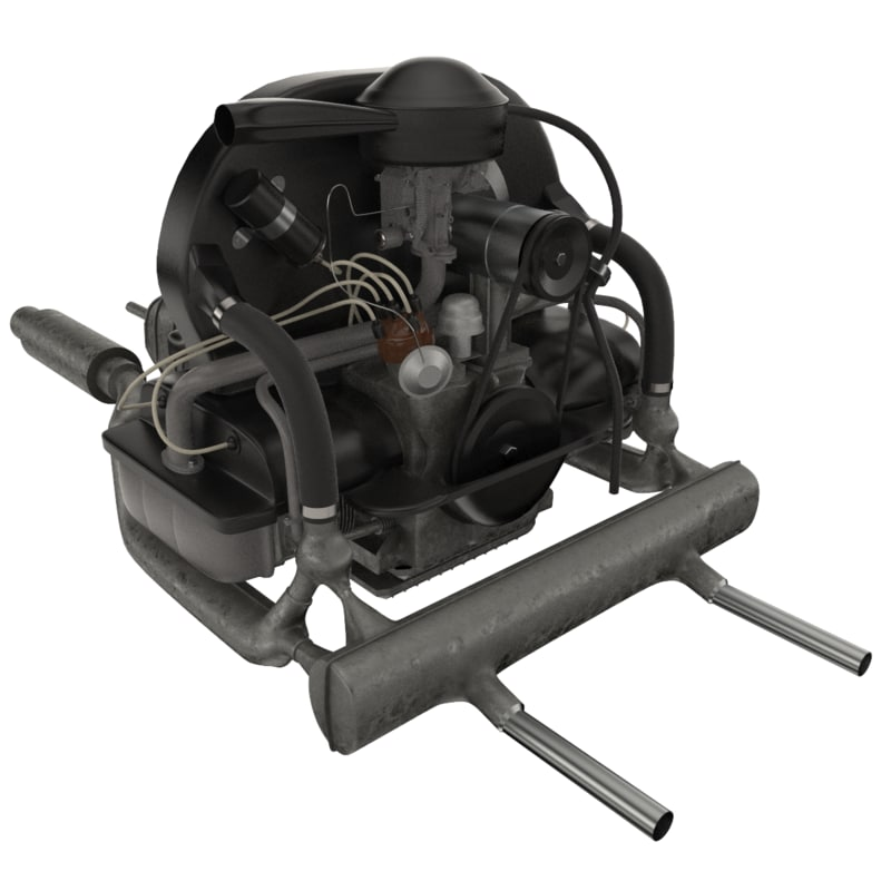 volkswagen beetle engine 3d model turbosquid 1153687 rh turbosquid com 2005 VW TDI Engine Fuel Injection Pump 1972 VW Beetle Wiring Diagram