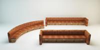 long sofas 3D model