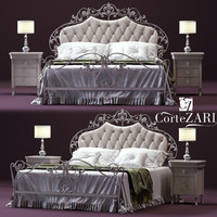 3D cortezari olimpia double bed model