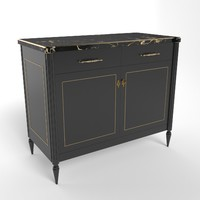 French Wood & Ormolu Cabinet