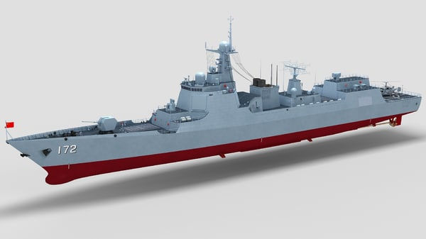 chinese type 052d destroyer model