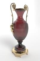 Ornate Crystal & Bronze Urn