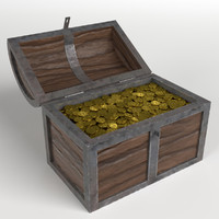 golden treasure chest 3D
