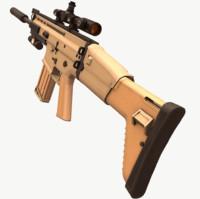 scar h 3D model
