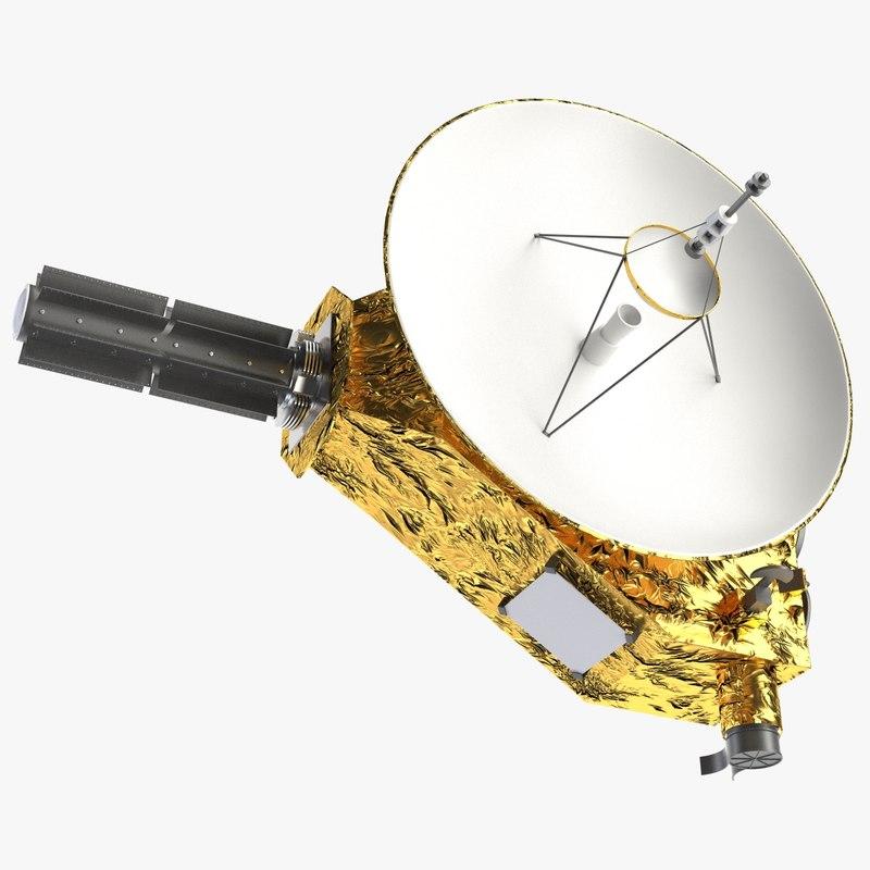 3D pluto probe satellite model