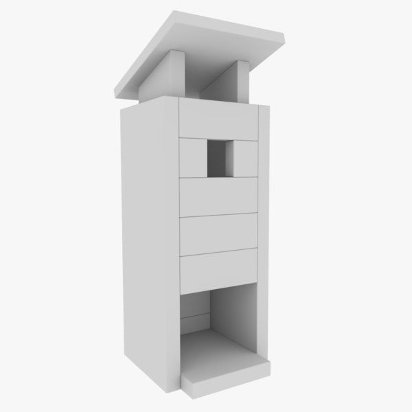 3D model subdivision birdhouse blender