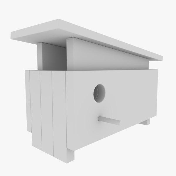 subdivision birdhouse blender 3D