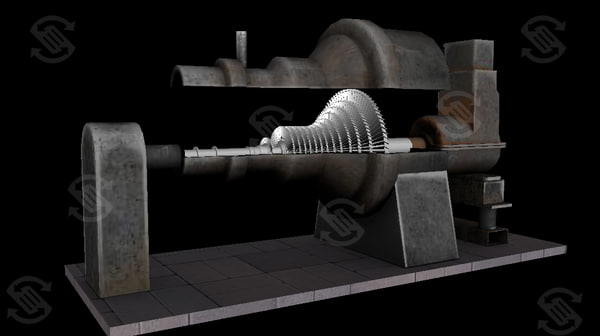 Steam Turbine 3D Models for Download | TurboSquid