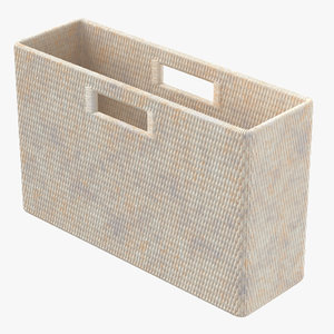 3D magazine basket 02 model