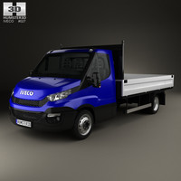 iveco daily dropside 3D model