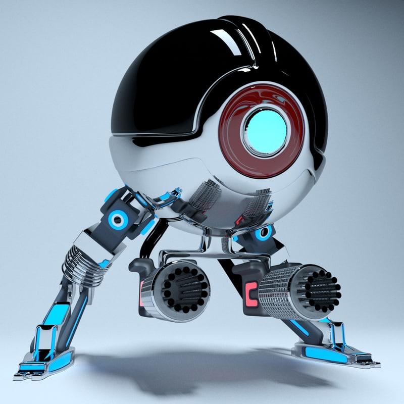 robot chicken 3D model