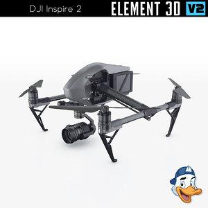 dji inspire 2 element 3D model