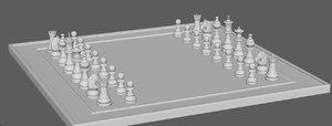3D chessboard piece horse