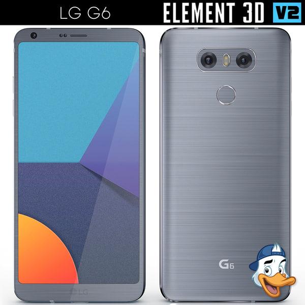 lg g6 element 3D model