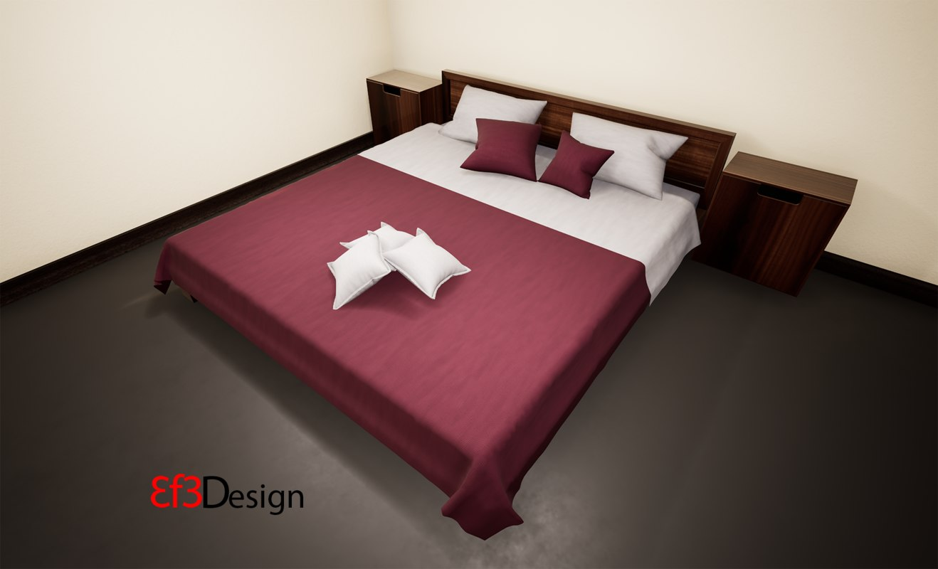 ethnic bed 3D model