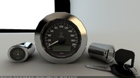 3D motorbike indicator km