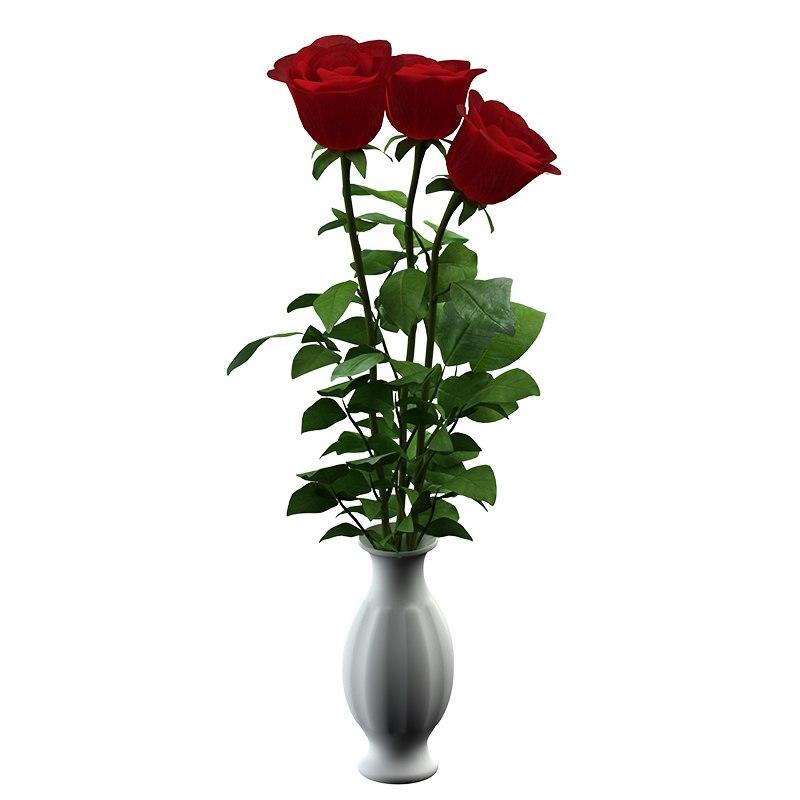 3D roses flower
