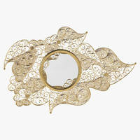 boca lobo filigree wall mirror 3D model