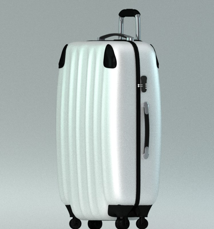 3D model modern travel suitcase