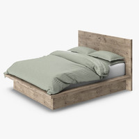 Restoration Hardware Reclaimed Russian Oak Platform Bed