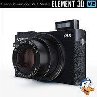canon powershot g9 x 3D model