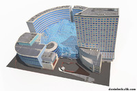 3D office buildings mall