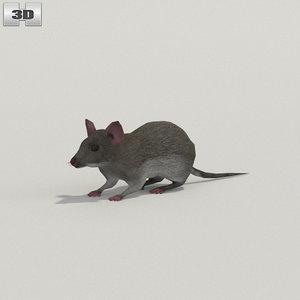 3D model mouse gray