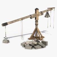 Medieval Wooden Crane 6