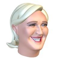marine le pen 3D