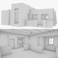 adobe interior 3D model
