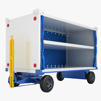 airport baggage cart 3D model