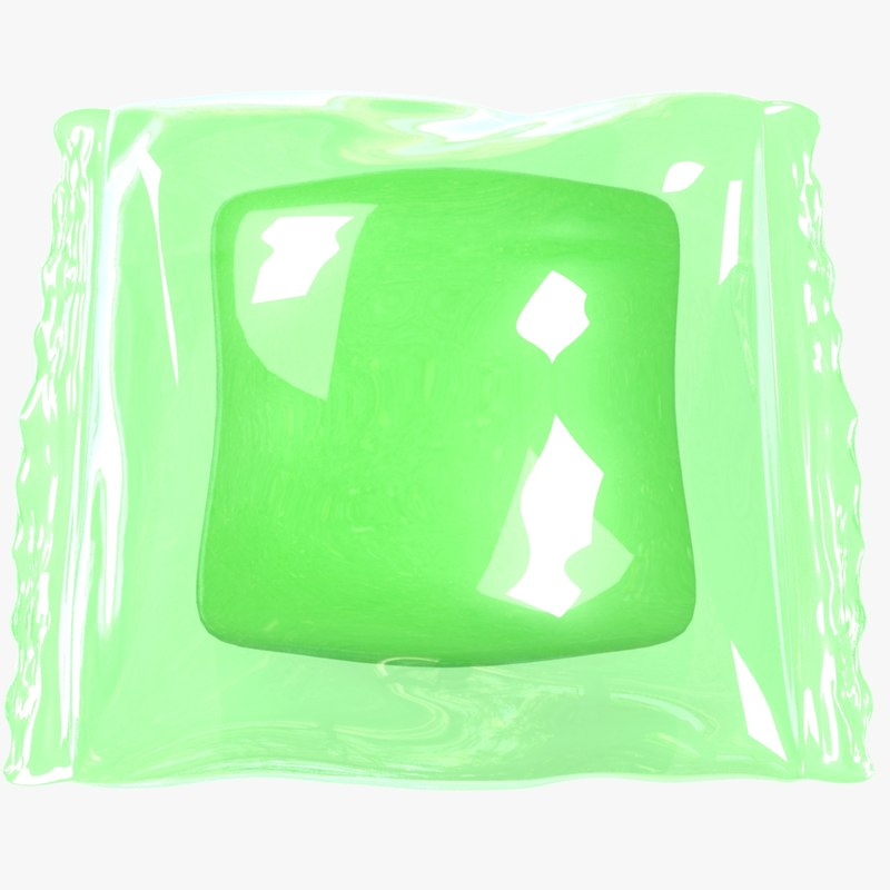 3D wrapped green candy