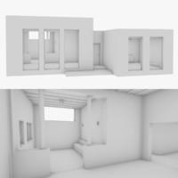 3D adobe interior model