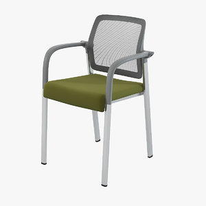 allsteel acuity visitor chair mesh model