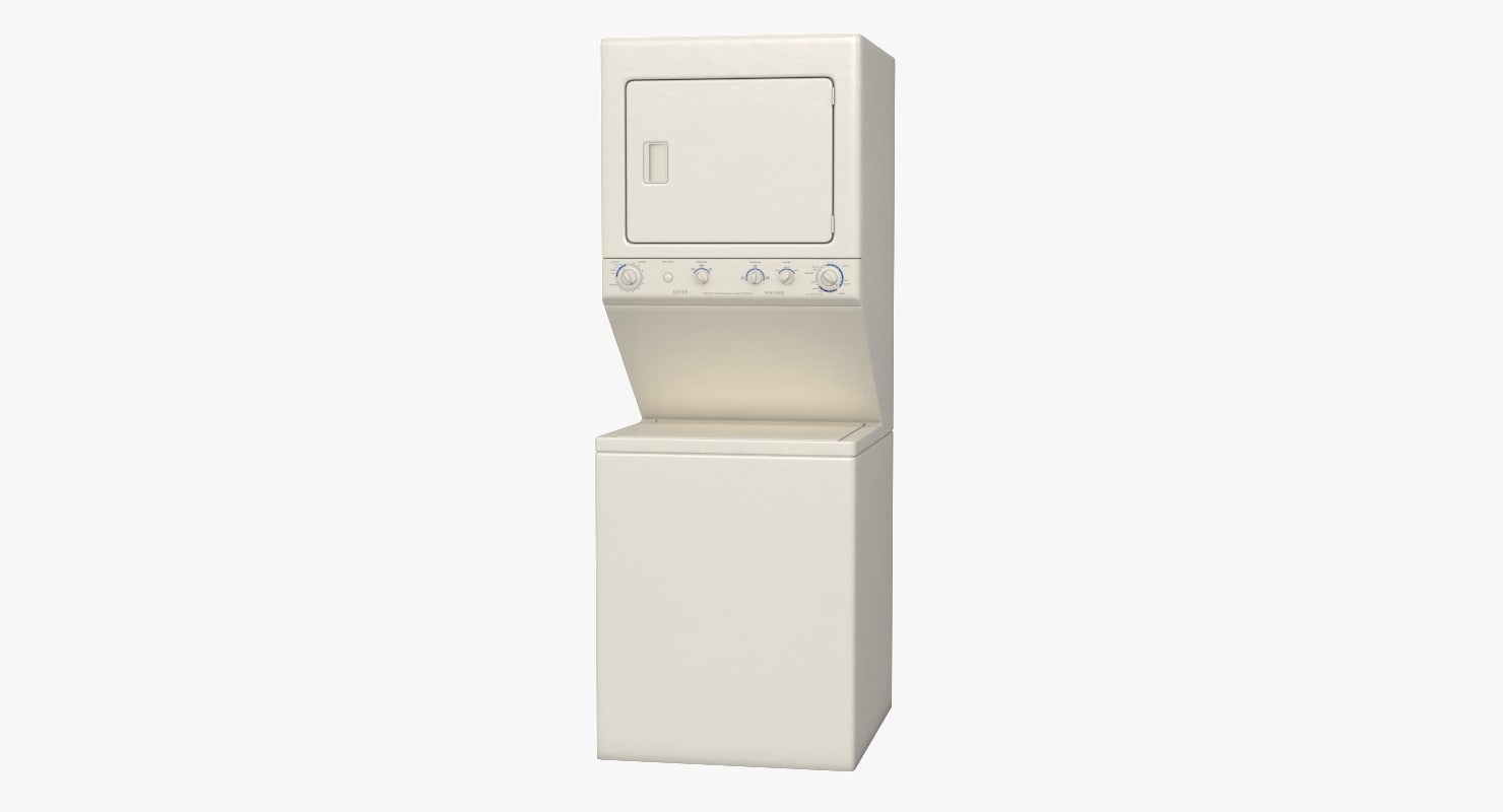 3D model stacked washer dryer