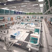 Modelo de laboratorio de ciencia ficción