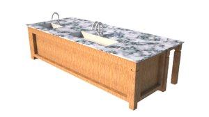 kitchen work 3D model