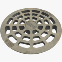 3D sewer cover lod pbr model
