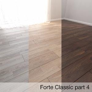 3D model parquet floor