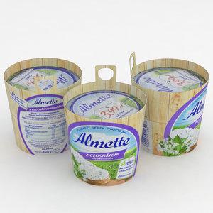 3D almette bear s garlic model