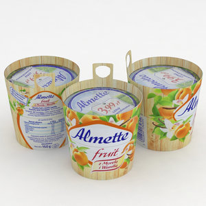 almette fruit apricot vanilla 3D model