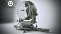 searchlight search 150cm 3D model