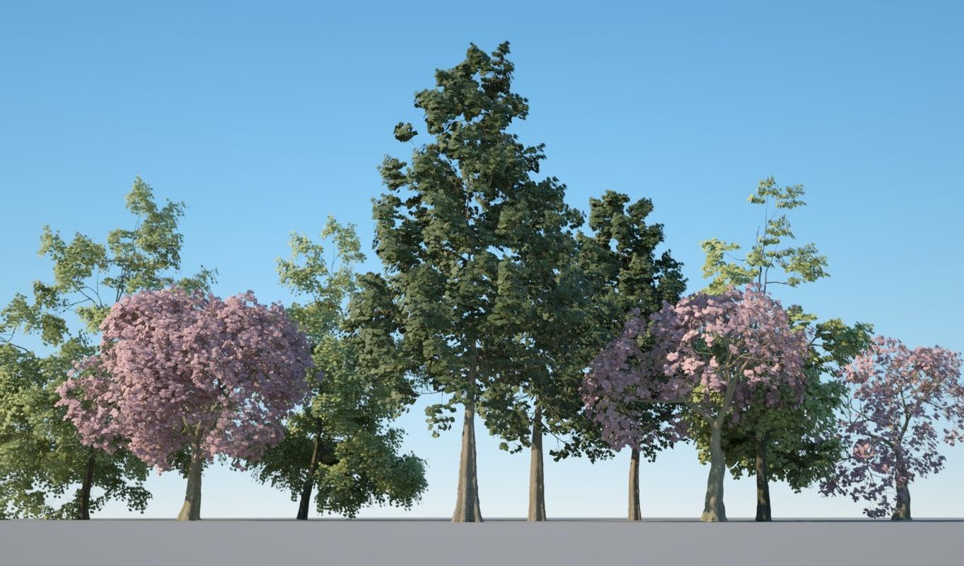 trees pack 3D model