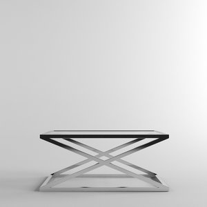 metal x-frame glass 3D model